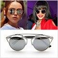 2016 Nova Marca D óculos de Sol Do Vintage 9771 Rihanna Mesmo Projeto Cateye Óculos de Sol Oculos Masculino Mulheres Óculos