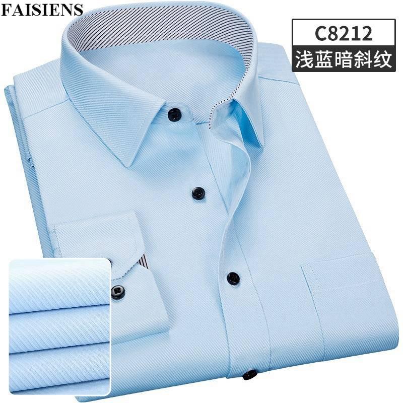 Just Faisiens Cotton Men Shirt Long Sleeve Larger Size Big Sale 8xl10xl 9xl Autumn 14xl Formal 12xlbusiness Man Dress Shirts Pure Whiteness