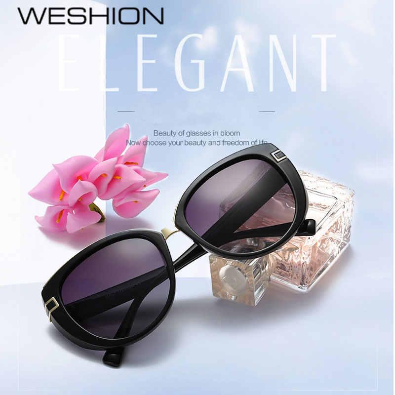 39ca6a5567 WESHION Cateye Sunglasses Women Polarized Ladies Driver Sun glasses Brand  Designer 2018 Colorful UV400 Oculos De