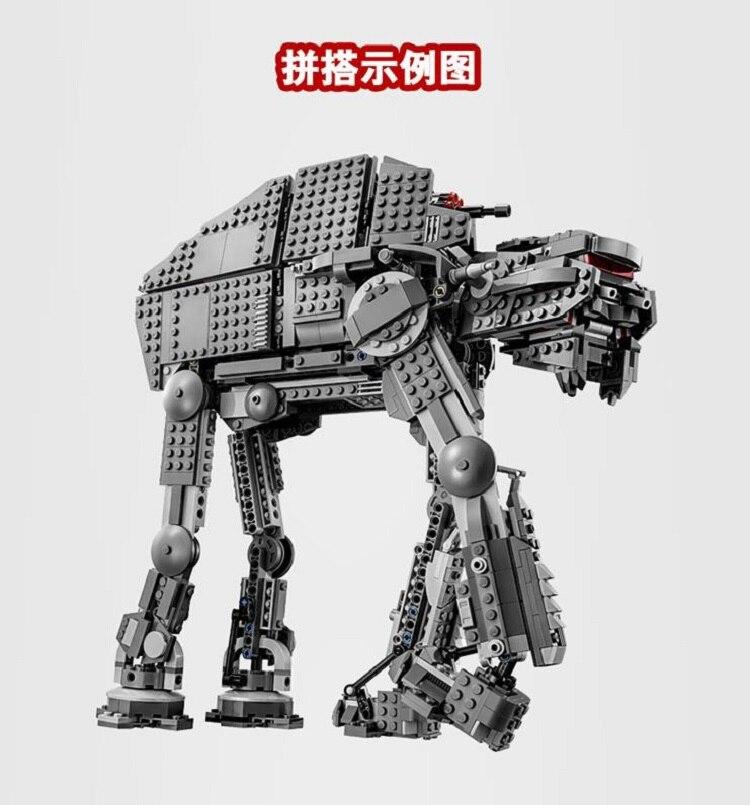 Bela 10908 Série Star Wars Premier Ordre Marcheur D'assaut Lourd Bloc De Construction 400 pièces Briques Jouets-in Blocs from Jeux et loisirs    2