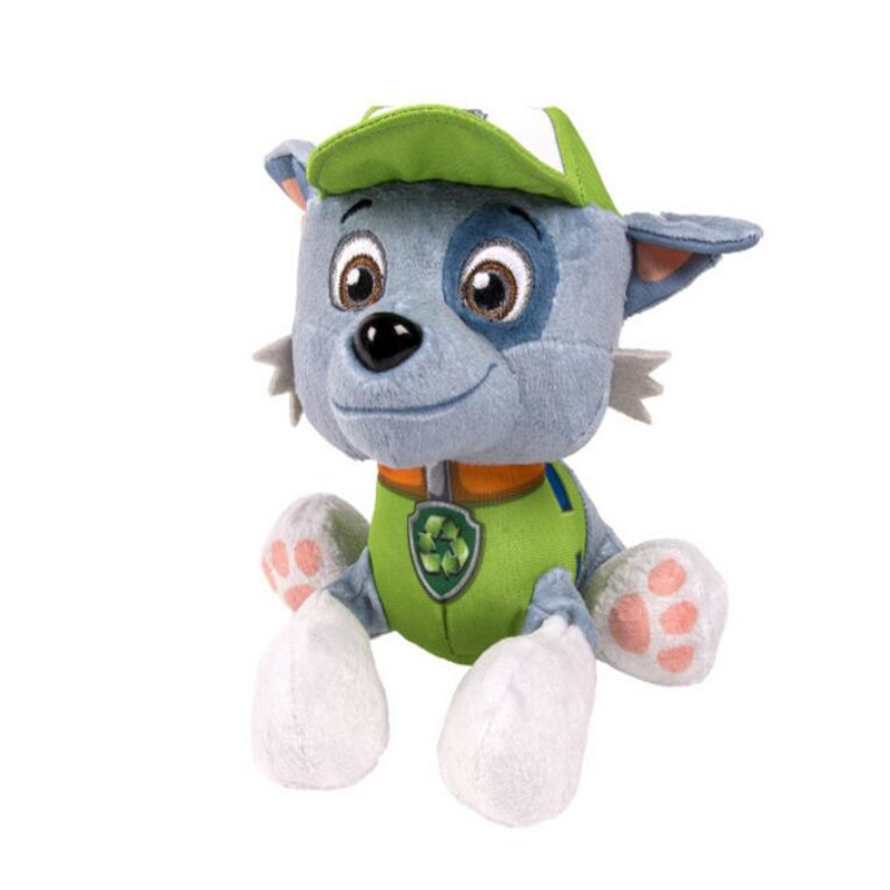 High quality workers Half-breed Rocky Toy doll dog Plush toys for baby 20cm Soft bauble birthday present&children's gift 6pcs plants vs zombies plush toys 30cm plush game toy for children birthday gift