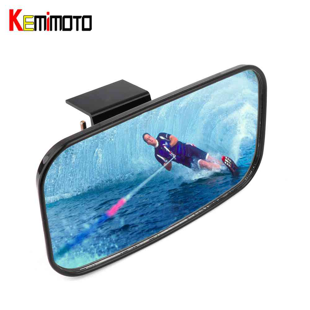 KEMiMOTO BID Marine Rear view Mirror for jet Ski Boat Watersport PWC personal watercraft surfing mirror Windshield 1 Bar bid for world power