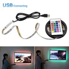 5V USB мощная светодиодная лампа 2835 SMD RGB светодиодная подсветка для шкафа HDTV ТВ Настольный ПК экран подсветка для шкафа освещение для кухни