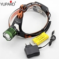 YUPARD CREE Q5 LED white blue LED HeadLight zoom zoomable Headlamps fishing power Head Light+18650 rechargeable battery+charger