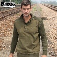 Neue beiläufige männer männliche Militärische winter uniform verdickung lose baumwolle mantel pullover freizeit basis kostenloser versand