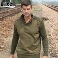 Nueva casual para hombre de hombre militar uniforme de invierno engrosamiento suelta suéter de la capa base de ocio envío gratis