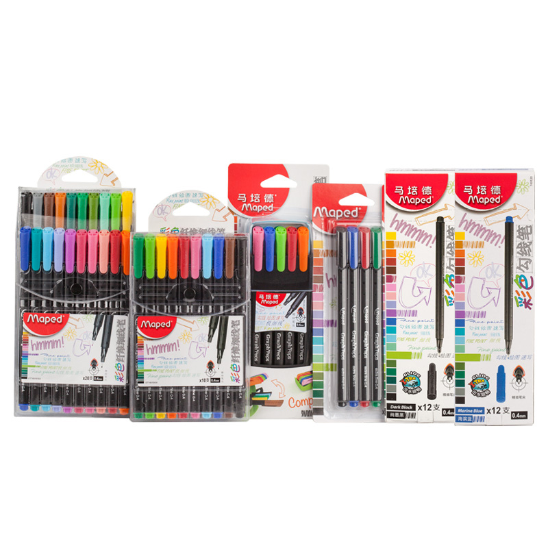 Maped Student office color fiber hook pen sketch pen color Mark pen цена