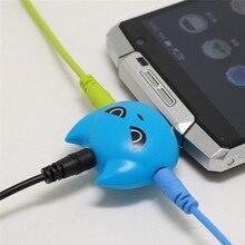 1Piece Cute 3-Way Batman Earphone Audio Splitter 3.5mm Jack Plug 1 to 3 Headphone Audio Adapter Converter 5 Colors