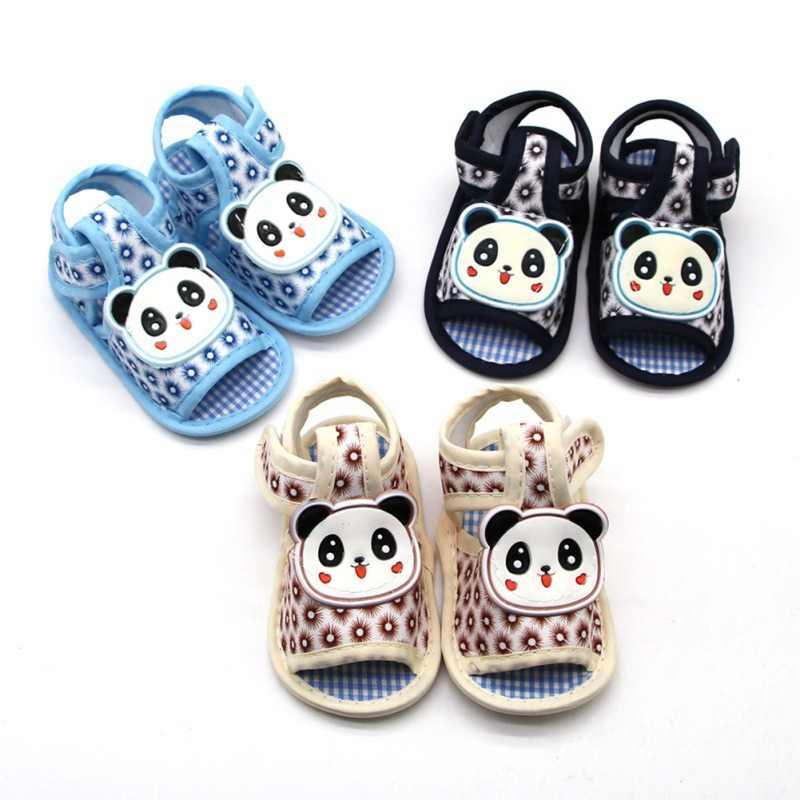 Летние детские сандалии с цветочным рисунком для маленьких девочек и мальчиков; мягкая хлопковая Тканевая обувь для малышей