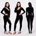 Special design 2017 popular bodycon rompers full sleeve long rompers sexy women rompers L9806