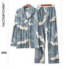Autumn&Winter Womens Pajamas Set 100% Cotton Korean Long Sleeve Sweet Loose Sweaters Women Sexy Sleepwear Cartoon Pyjamas Sets