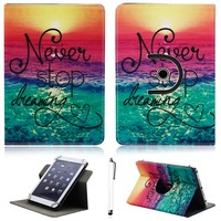 360 Degree Rotate 10 Universal PU Leather Stand Protector Cover Case Skin For 10 Inch Tablet