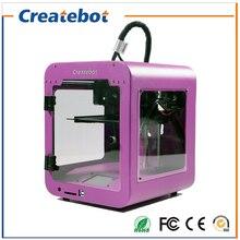 Newest Createbot Super mini  3D Printer kits High Quality Desktop Full colors 3d printer with 1 Roll filaments 1GB SD Card