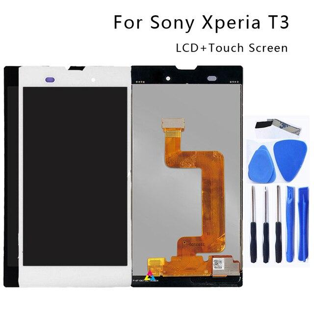 עבור Sony Xperia T3 LCD צג M50W D5103 Digitizer עבור Sony Xperia T3 מגע צג עם מסגרת טלפון אבזרים