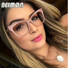 Belmon Spectacles Frame Women Computer Optical Prescription Eye Glasses Frame Eyewear Transparent Clear Lens Eyeglasses 97564