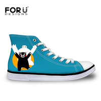 FORUDESIGNS Printemps et automne Femmes Casual Chaussures superstar Plat Chaussures Kawaii Kumamon Ours chaussure homme Respirant Chaussures Zapatos