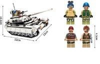 430pcs/452pcs Compatible legoed Military Hummer Tank ww2 army copter World war 2 building blocks Tank kids toys bricks