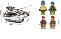 430pcs/452pcs Compatible legoed Military Hummer Tank ww2 army copter World war 2 building blocks Tank kids toys bricks