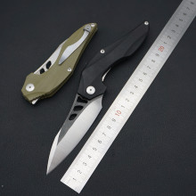 Worth! EF folding knife D2 blade pocket tactical camping hunting survival knives flipper G10 handle gift EDC knifes