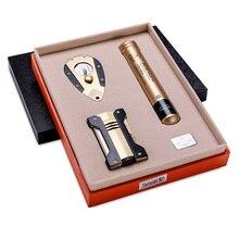 cigar lighter set portable cigar cutter single cigar tube three-piece suit CL-T020