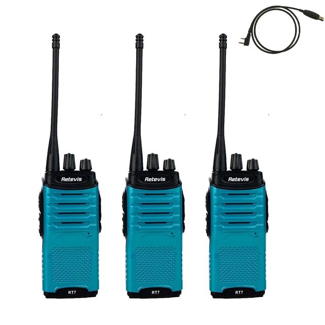 Retevis RT7 Walkie Talkie 16 CH hf Transceiver UHF 400-470MHz FM Radio Scan Two Way Portable cb Handy Radio Communicator A9111L