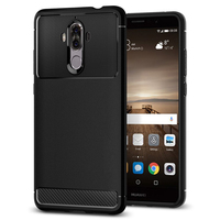 100 Original SGP Rugged Armor Carbon Fiber Textured Flexible TPU Case For Huawei Mate 9