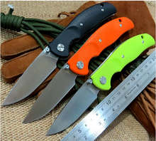 newest design F3 Bearing system Floding knife s D2 blade G10 handle survival hunting camping outdoor  tool OEM