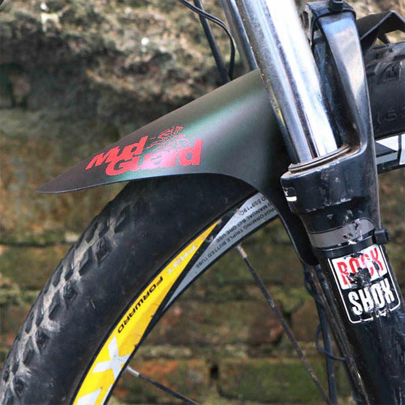 Para-choque para bicicletas 3 peças, pára-choque de plástico ultraleve para bicicleta mtb asas de bicicleta de montanha e estrada, acessórios da bicicleta frontal + traseira guarda de proteção