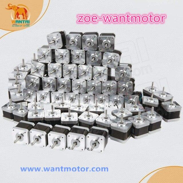 ¡Envío desde Alemania y gratis! ¡60 piezas Nema 17 Wantai 42BYGHM809 4000g! cm 1.7A Robot 3D Makebot Reprap impresora (CE ROSH)