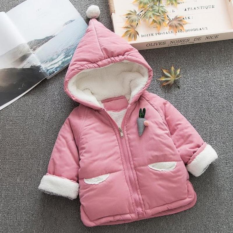 Newborn Girl Winter Coat Cotton Baby Jacket Hooded