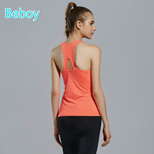 Beboy Solid Running Vest Women Breathable Bodybuilding Fitness Tank Tops Slim Sport Shirts Sleeveless Crossfit Vest Gym Clothes