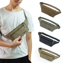 2018 new  pockets personal pockets men's mobile phone bag invisible key bag canvas