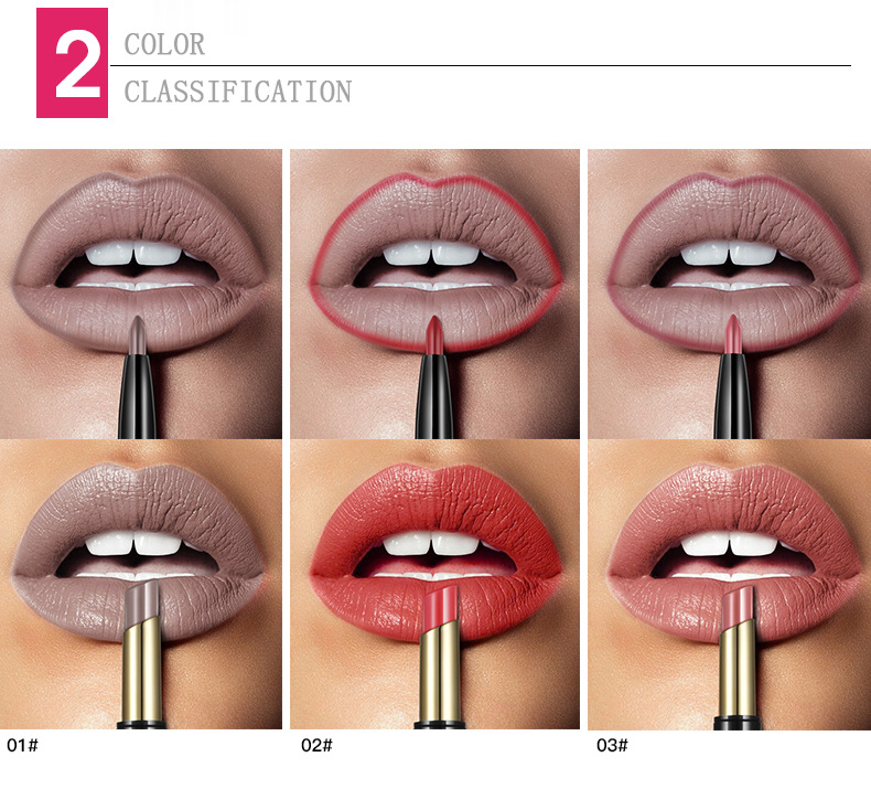 New PUDAIER Brand 16 Color Double Ended Nude Lasting Waterproof Lip Liner And Matte Lipstick Nude Dark Red Lips Liner Pencils (3)