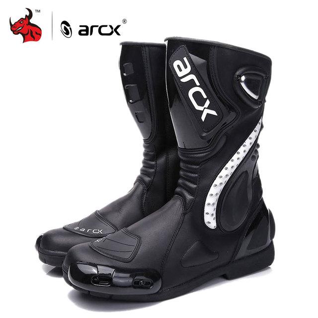ARCX Motorcycle Boots Motocross Boots Men Waterproof Moto Boots Motorbike Riding Boots Black Botas Moto Motorcycle Shoes
