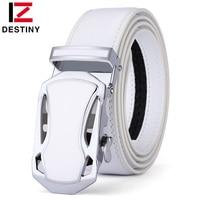 DESTINY Belt Men Luxury Famous Brand Designer High Quality Male Genuine Leather Strap White Automatic Buckle