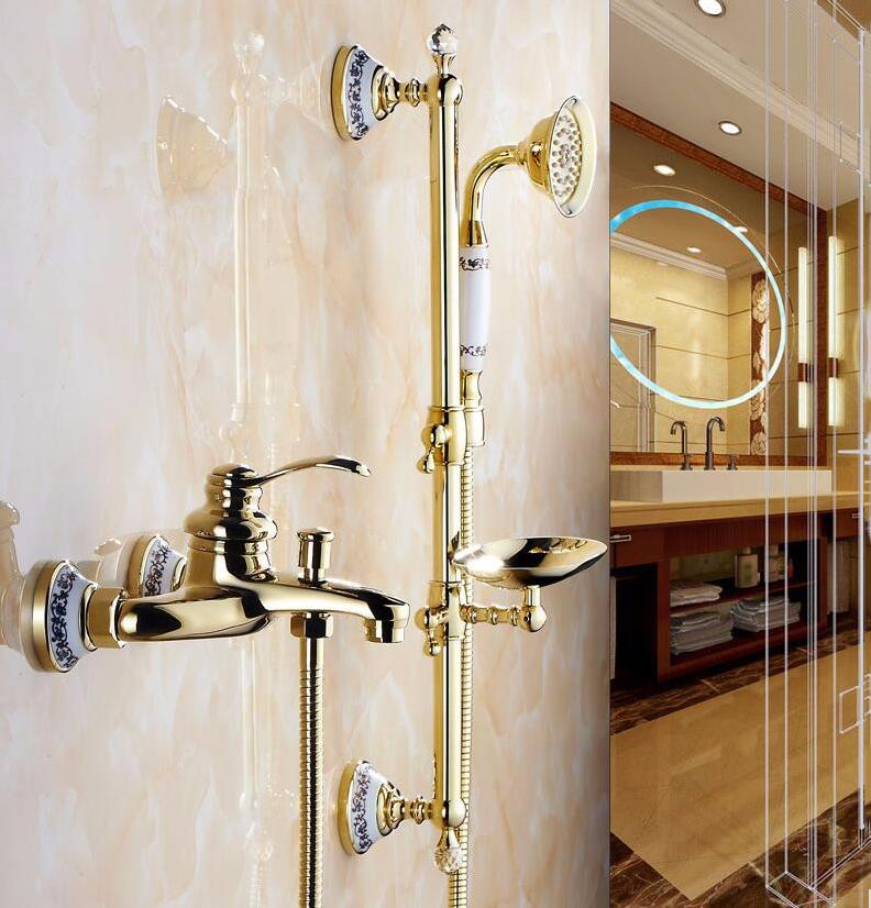 Free Shipping Luxury 3 Style Gold Color Bath Tub Faucet with ...