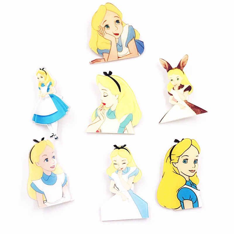 1 Pcs Kartun Putri Alice Gadis Acrylic Lencana Bros Ikon Pada Tas Ransel Syal Bros Pin untuk Coothing