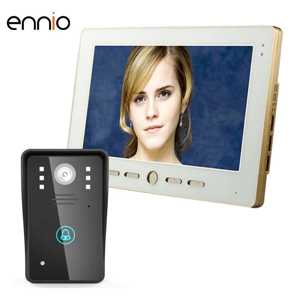 ENNIO SY1002A11 10 Video Door Phone Intercom Doorbell Touch Button Remote Unlock Security CCTV Camera Home Surveillance vox кенгуру vox freehand grey