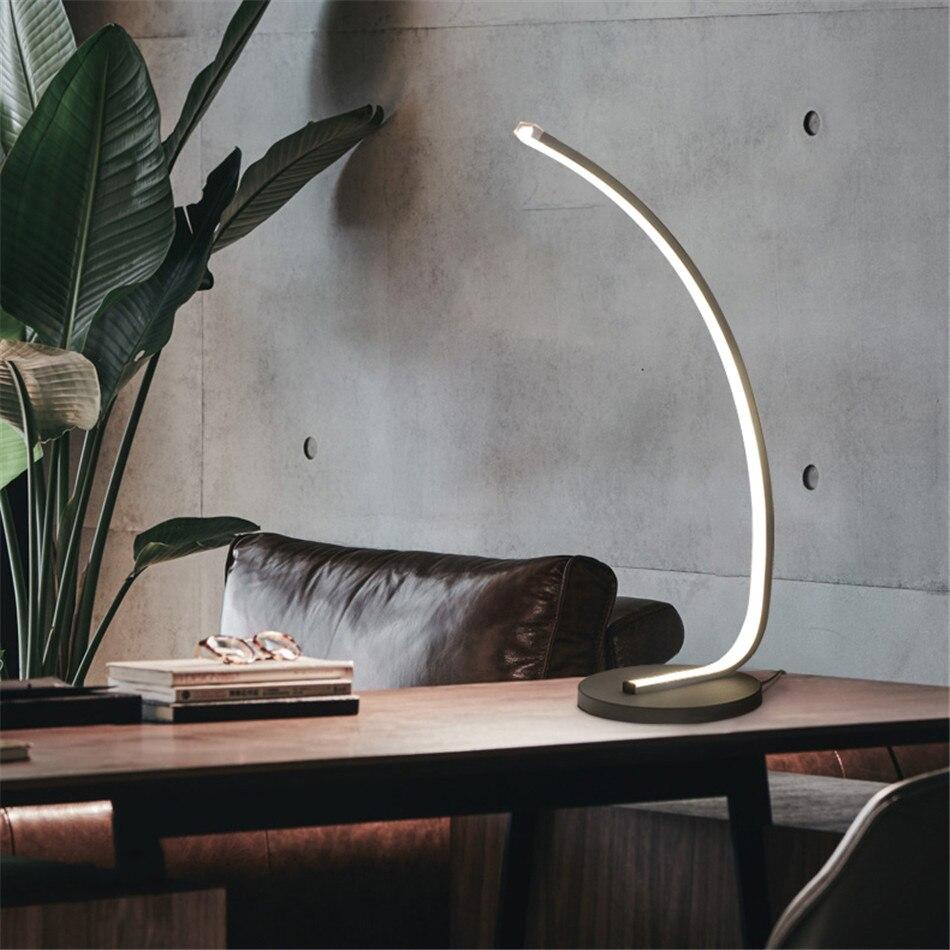 Modern Table Light Metal Living Room Office Art Desk Lamps Reading Cafe Table Lamp Home Deco Study Loft Bearoom Lamp Desk Clamp in Desk Lamps from Lights Lighting