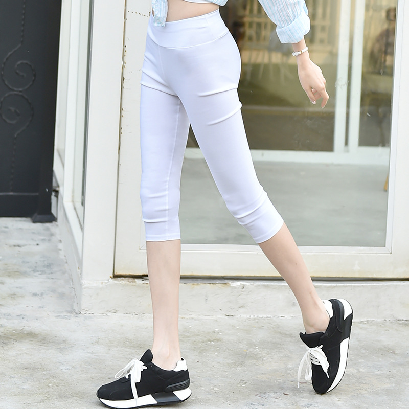 2018 Linen   Pants   Summer Women Calf Length Harem   Pants   Colorful Casual Elastic Waist   Pants     Capris   Trousers Plus Size S-3XL
