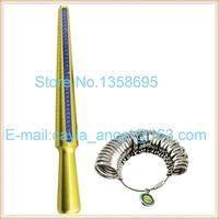 HK Size Copper Ring Stick And Ring Sizer Set Measure Finger Size Ring Gauge Metal Finger