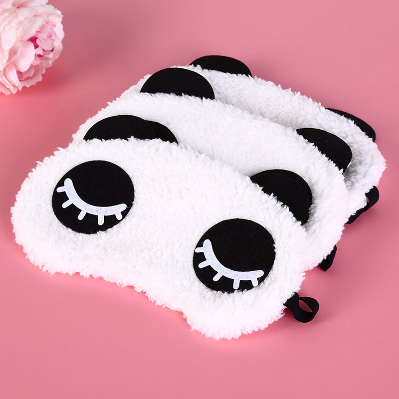 Cute Panda Sleeping Face Eye Mask Blindfold Eyeshade Traveling Sleep Eye Aid Drop Shipping Wholesale Health Care 3 Styles