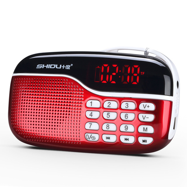 1.33 pulgadas LED pantalla Portátil altavoces digial reproductor jukebox inteligente con Soporte de radio FM TF/USB disco para los ancianos