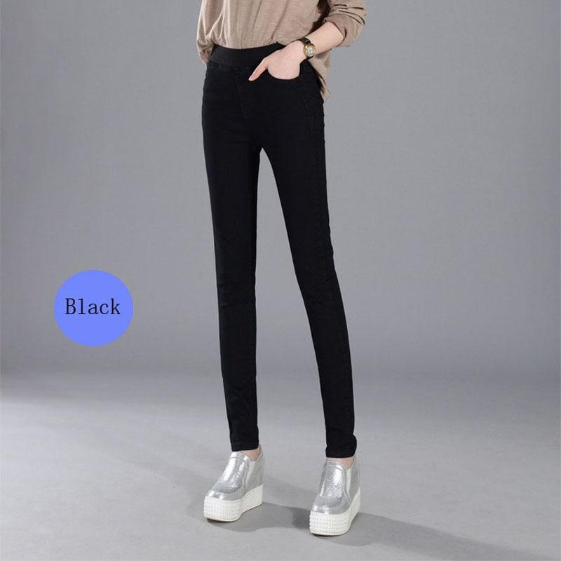 Women's Jeans New Female Casual Elastic Waist Stretch Jeans Plus Size 38 Slim Denim Long Pencil Pants Lady Trousers #6