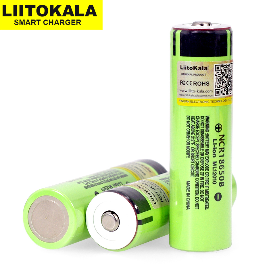 2019 Liitokala  Original NCR18650B 3.7V 3400mah 18650 rechargeable lithium battery Suitable for  flashlight battery (No PCB)(China)