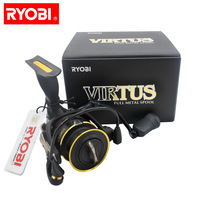 Original RYOBI VIRTUS spinning fishing reel 1000 8000 size 4+1BB 5.0:1/5.1:1 Ratio 2.5KG 7.5KG Power design in Japan reels