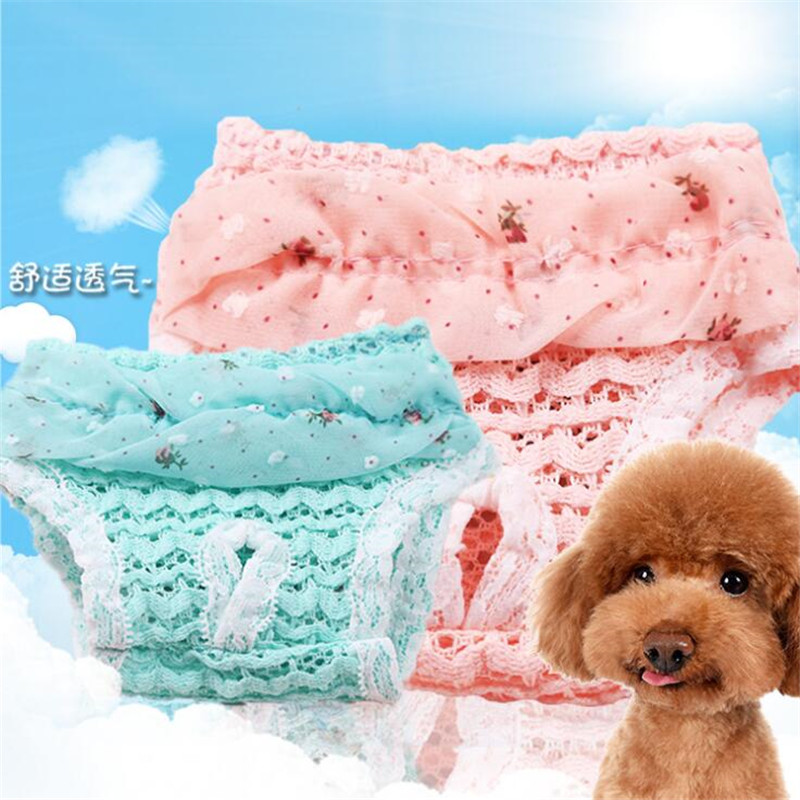 New Cute Pet Dog Chiffon Physiological Pants Panty Menstruation Pants For Female Teddy Underwear For Boy Dog Cat Hot
