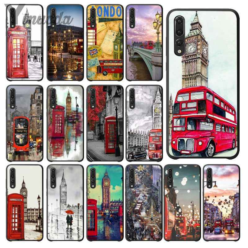 Yinuoda style london bus england telephone vintage Phone Cell Phone Case for Huawei Mate10 Lite P20 Pro P9 P10 Plus View 10
