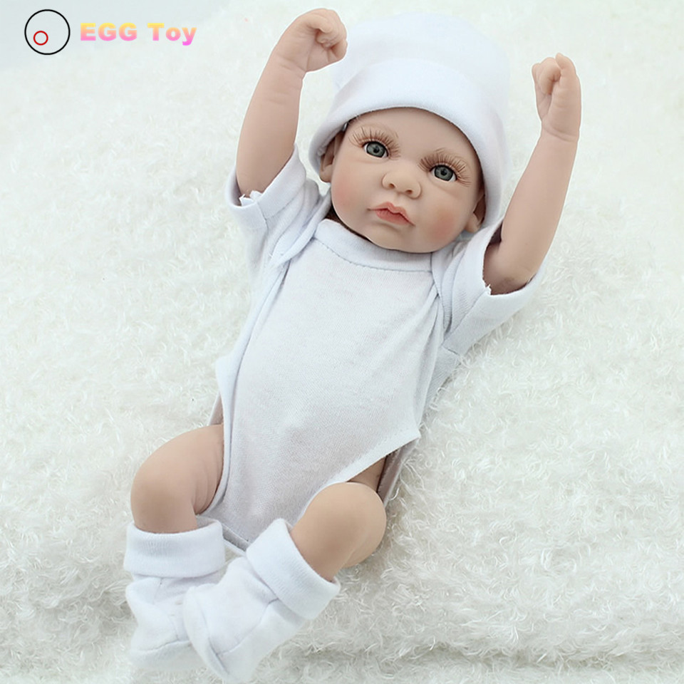 Full body Silicone Reborn Baby Dolls Toys 28cm Lifelike  Doll Baby Play House Toy Gift for kids  Princess Doll Reborn 28cm white full body silicone reborn baby dolls toys lifelike girls doll play bath toys gift brinquedods princess reborn babies