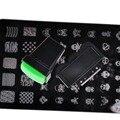 Hot rectángulo Nail Art Stamper espátulas esmalte de uñas de pintura plantilla de placas de estampación DIY Tools uñas